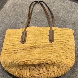 Jcrew Straw Rattan Bag
